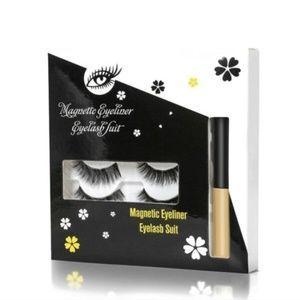 4 Pairs Magnetic Eyelashes & Eyeliner, Applicator